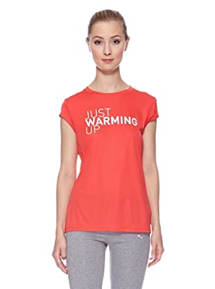 PUMA Laufshirt CR Graphic Slogan Short Sleeve (hibiscus/justwarmingup)