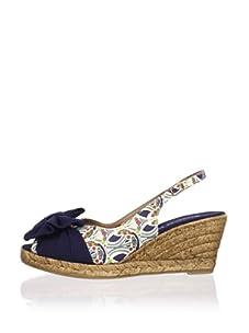 Chocolat Blu Women's Gracie Slingback Wedge Sandal (Blue)