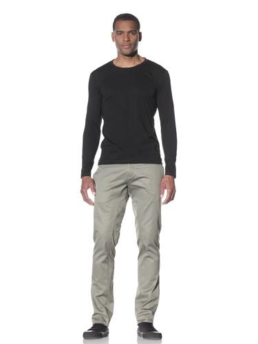Adidas SLVR Men's Mod Long Sleeve Tee (Black)