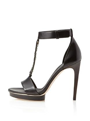 Calvin Klein Collection Women's  Kiara T-Strap Platform Sandal (Black/black)