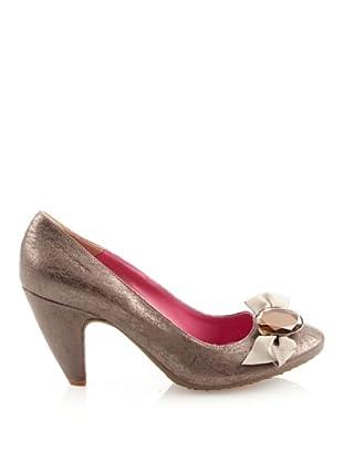 Fornarina PIFEB7603WG84 - Zapatos de ante para mujer (Beige)