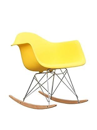 Manhattan Living Rocker Arm Chair, Yellow