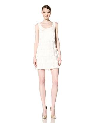Donna Morgan Women's Esther Fringe Dress (White)