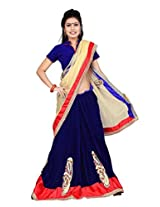 Blue Stylish Fancy Saree