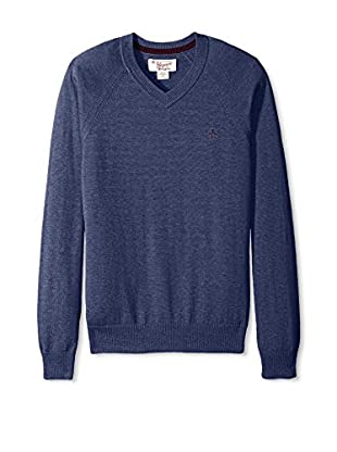 Original Penguin Men's Long Sleeve Raglan V-Neck Sweater