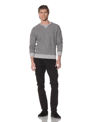 Shades of Grey by Micah Cohen Men's Crewneck Sweatshirt (Heather Grey)