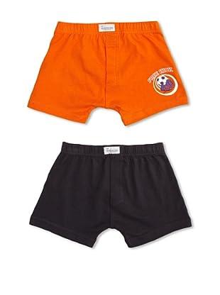 Abanderado Pack x 2 Boxers Junior (Azul Marino / Naranja)