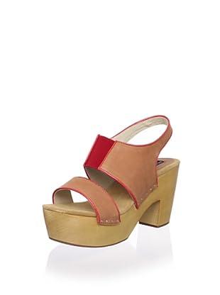 Messeca Women's Jen Slingback Sandal (Cognac/Coral)