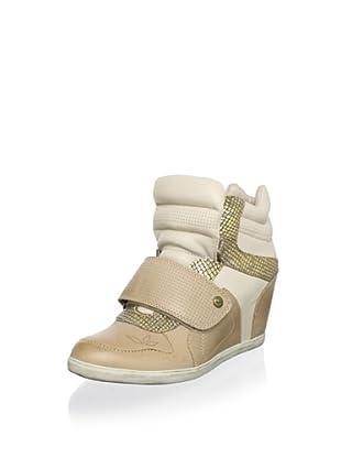 Koolaburra Women's Charlie Fashion Sneaker (Nude)
