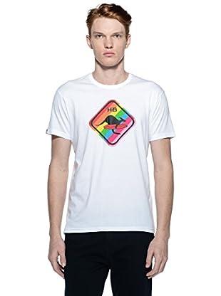 Hot Buttered Camiseta Rainbow (Blanco)