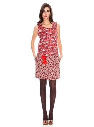 Strena Vestido Flores (Rojo)