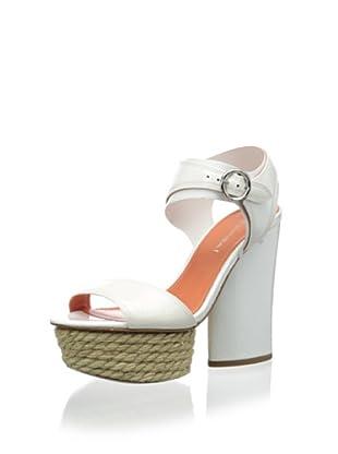 Via Spiga Women's V-Novia Platform Sandal (White Patent)