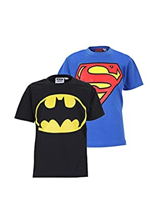 DC Comics Set 2 Pezzi T-Shirt Manica Corta Pack 10