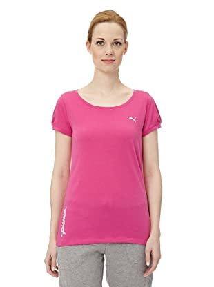 Puma Damen T-Shirt Pumascript Top I (rose violet)