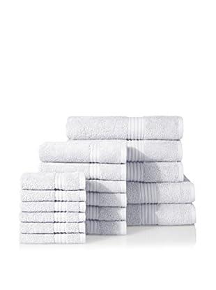 Chortex of England Hampton 17-Piece Towel Set, White