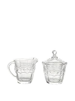 Christal d`Arques 21565 6 Zuckerdose und Milchgießer, Allure