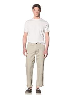 Perry Ellis Men's Textured Cotton Pant (Aluminum)