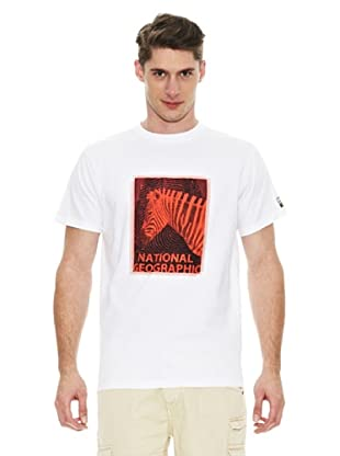 National Geographic Camiseta Cebra (Blanco)