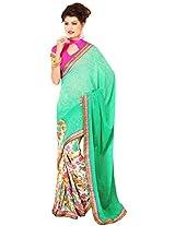 Ram Leela Women's Synthetic Saree (1008A)