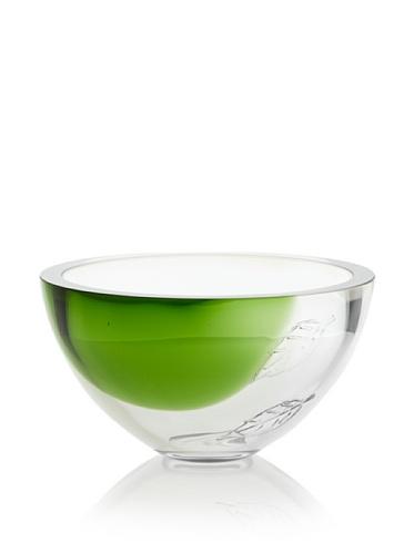 Orrefors Harmony Bowl, Green/Clear, 9