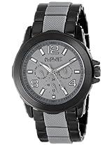 August Steiner Men's AS8114GY Multifunction Grey & Black Bracelet Watch