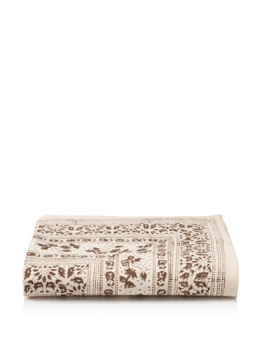 Kerry Cassill Flat Sheet (Khaki Floral)