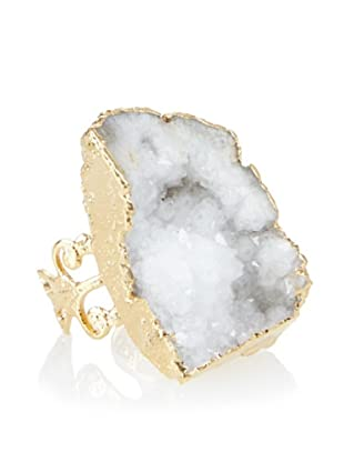 Charlene K Large White Druzy Ring