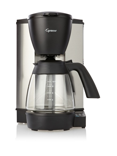 Jura-Capresso MG600 Programmable Coffeemaker with Glass Carafe (Stainless Steel/Black)