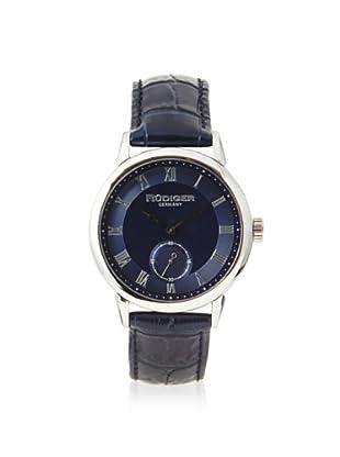 Rudiger Men's R3000-04-003L Leipzig Blue Dial Leather Watch