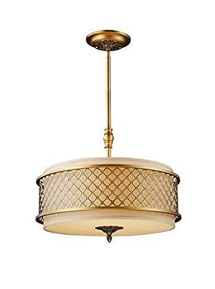 Artistic Lighting Pendant, Brushed Antique Brass