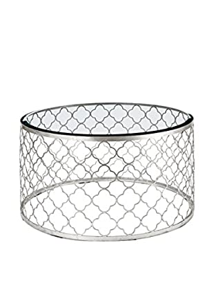 Home Philosophy Mosaic Cocktail Table, Silver