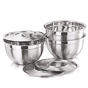 Vinod Cookware Bowl with Stainless Steel Cover, 3-Pieces