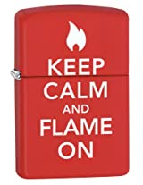 Zippo Keep Calm Lighter (Red Matte)