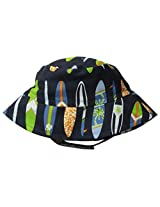 Flap Happy Baby Boys' UPF 50+ Crusher Hat, Catch A Wave, Medium