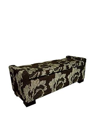 ORE International Floral Storage Bench, Black