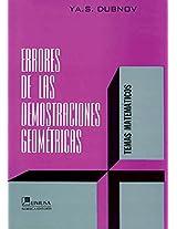 Errores de las demostraciones geometricas/ Errors of Pure Mathematics