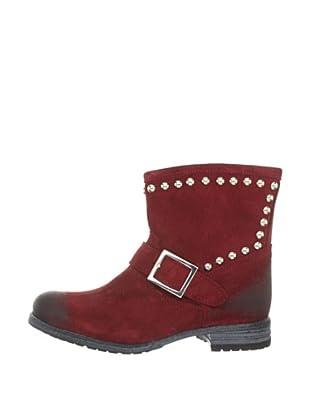 Buffalo London ES 30138 SUEDE 136767 - Botines fashion de cuero para mujer (Rojo)