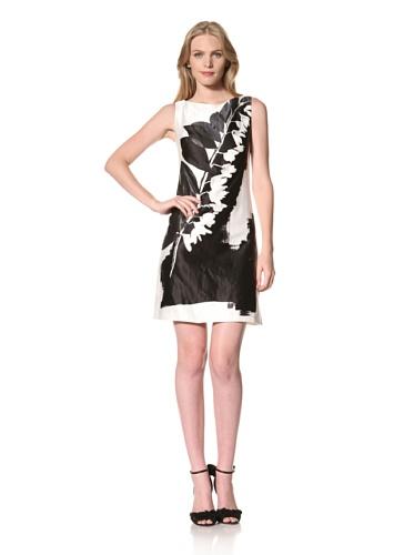 Theia Womens Printed Sleevless Dress (Ivory)