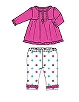 Toddler Baby Girls' Pyjama Set (Set Of 2) (WC001-24_Pink White_12-18M)
