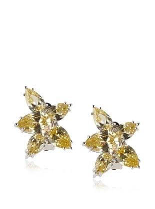 CZ By Kenneth Jay Lane Star Earrings, Silver, One Size