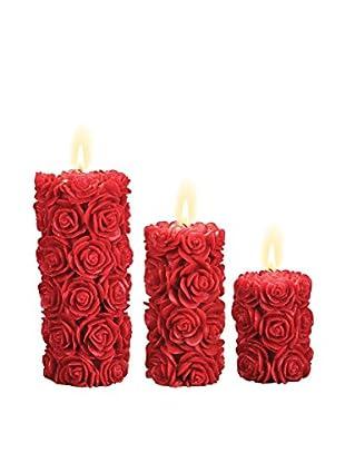 Volcanica Set of 3 Femme Pillar Candles