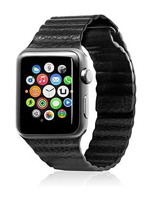 UNOTEC Uhrenband für Smartwatch Segment Apple Watch 38 mm schwarz