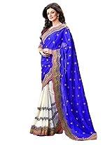 Triveni Majestic Embroidered Faux Georgette Saree 2905