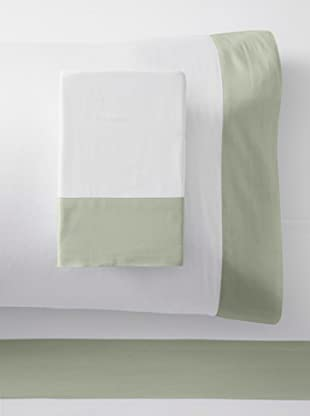 Westport Linens 300 TC Framed Border Sheet Set (Celery/White)