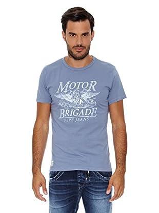 Pepe Jeans London Camiseta Pascal (Azul Medio)