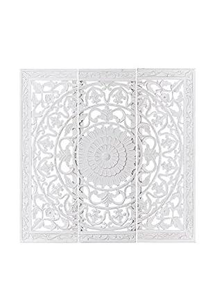 Concept Luxury Wanddeko 3er Set Triptych weiß