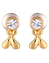 Estelle Gold Plated Studs for Women (ESER350-711)