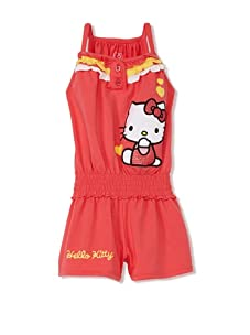 Hello Kitty Girl's 2-6X Applique Romper with Ruffles (Paradise Pink)
