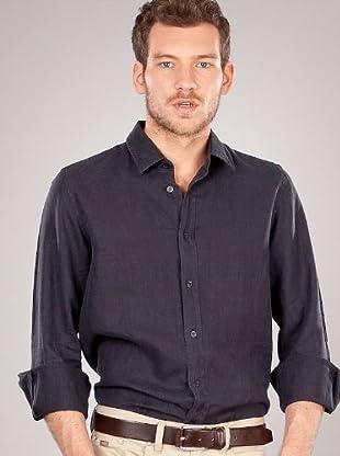 Hugo Boss Camisa Básica (azul marino)