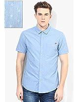 Blue Slim Fit Casual Shirt Ed Hardy
